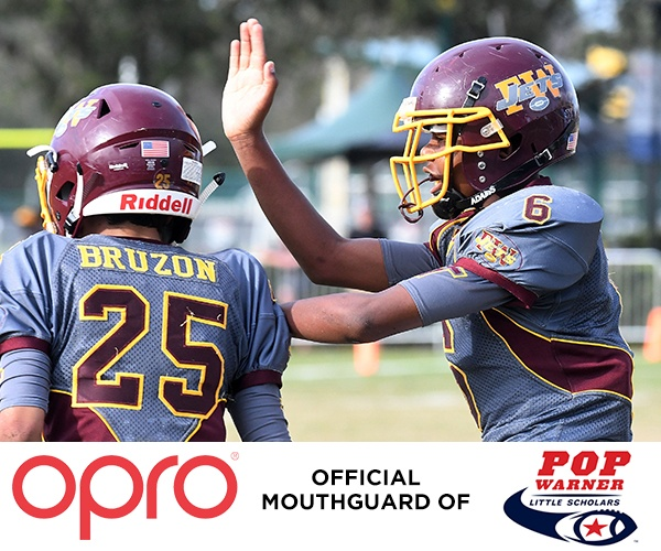 OPRO PARTNER AS OFFICIAL MOUTHGUARD OF POP WARNER LITTLE SCHOLARS