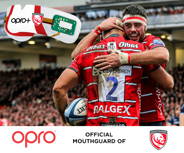 OPRO Renews as Official Mouthguard of Gloucester Rugby