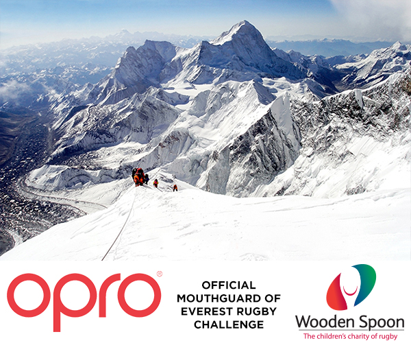 OPRO announce partnership with children's charity of rugby, Wooden Spoon, in world record fundraising attempts