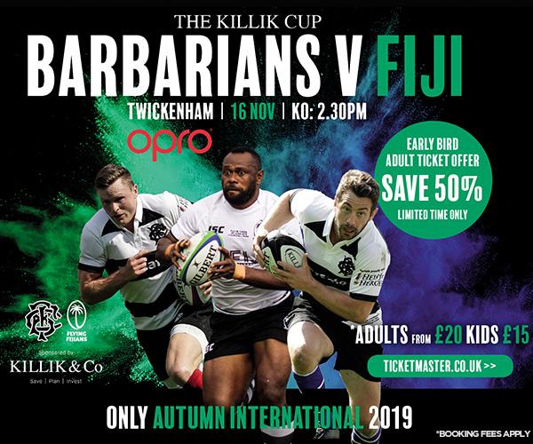 OPRO announced as official mouthguard partner for Killik Cup Barbarians v Fiji fixture