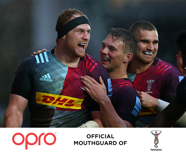 OPRO Renews as Official Mouthguard of Harlequins