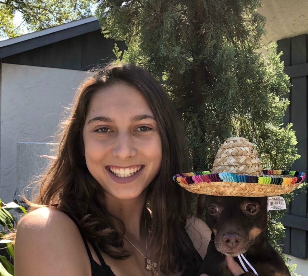 Anastasija Zolotic and her dog Cory
